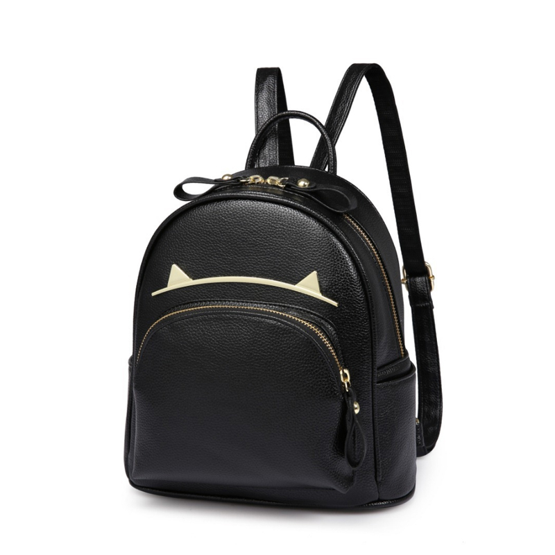 Homeda 2017 Fashion Women Shoulder Bag PU Leather Zipper Primary and Secondary School Students Backpack Mochila Feminina Z0133 400 have 24 colours wholesale korean fashion pu zipper primary and secondary school students backpack 20171201