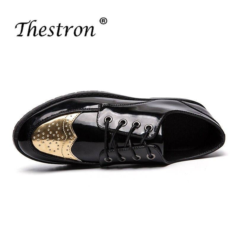 Automne Chaussures D'affaires Verni Vente Hiver 2018 Chaude Haute En Hommes Pour Populaire Cuir Qualité Richelieu Black 7UqxpC