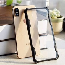 Transparent Shockproof Phone Case Cover TPU+PC for iPhone X XS MAX XR Samsung S10 E PLUS