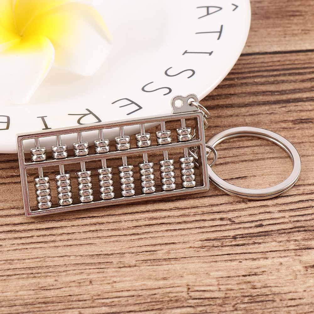Creative Golden abacus Metal Keychain Ring Keyring Key Fob Lovely Gift