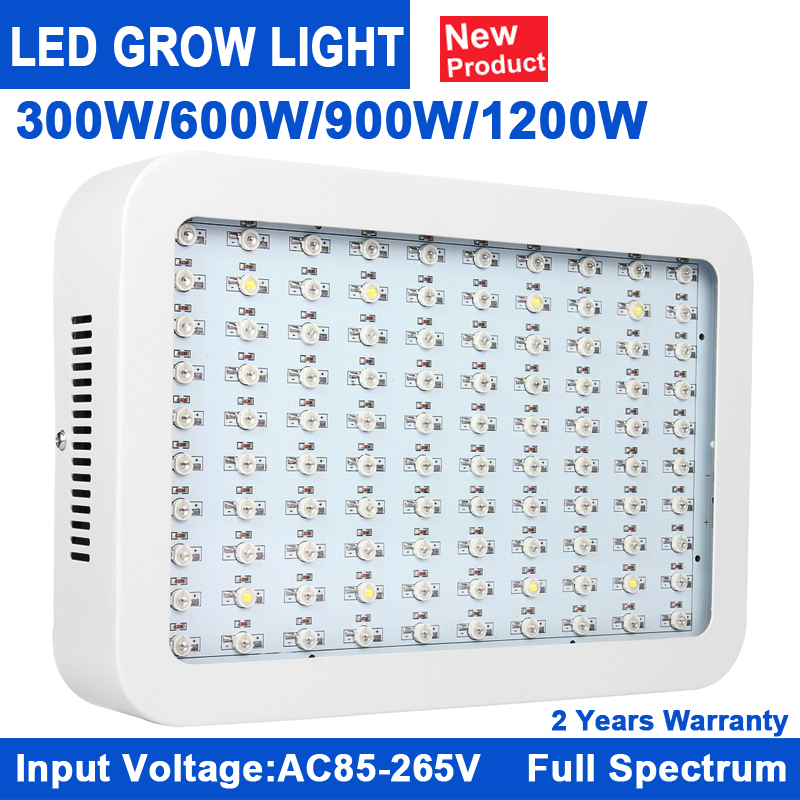 1Pcs KINDOMLED Full Spectrum 300W 600W 900W 1200W Grow Light Red/Blue/White/UV/IR For hydroponics and indoor plants 2017 Hot