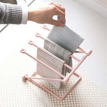 High-quality Vertical Foldable Multifunctional Cloth Towel Storage Rack Kitchen Cup Countertop Dish Holder