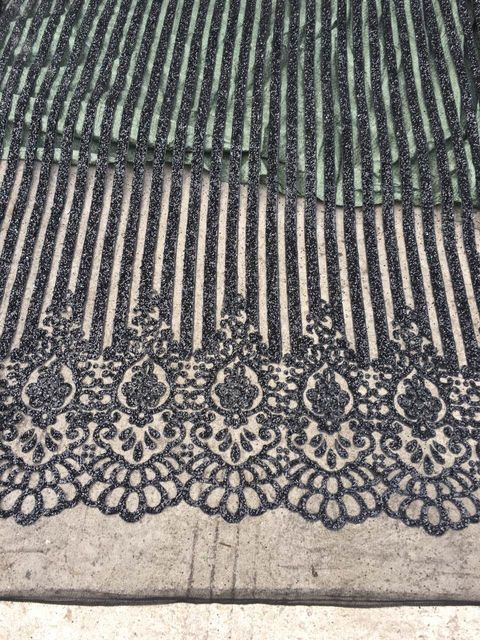 black glitter mesh african indian lace fabric LJY-81201 for wedding  evening  dress 8e4f66596cf9