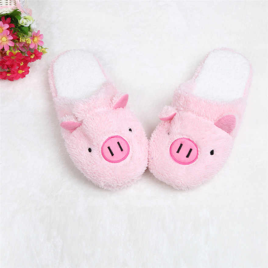 ฤดูหนาวรองเท้าแตะในร่มรองเท้าผ้าฝ้ายรองเท้าแตะน่ารักหมูบ้านชั้น Soft Stripe รองเท้าแตะหญิงรองเท้า buty damskie #20