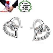 Женские серьги гвоздики omhxzj сережки из стерлингового серебра
