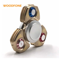 WOODFONE Brand Spring Toy Hand Spinner New Design Gyro Metal Tri Fidget Spinner Anti Stres Toys