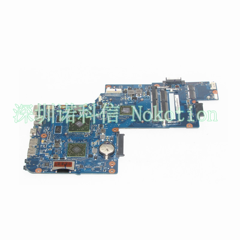 NOKOTION NEW Laptop Motherboard for Toshiba Satellite C850D C855D L850D L855D H000051830 E2-1800 Mainboard works free shipping for toshiba satellite l850d l855d c850 c855d c850d series motherboard plac csac uma main board fully tested