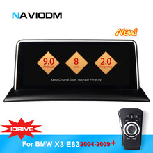 Naviodm android 9.0 8 core car multimedia player car dvd gps player auto audio For BMW X3/E83 2004-2009 iDrive aux bt radio
