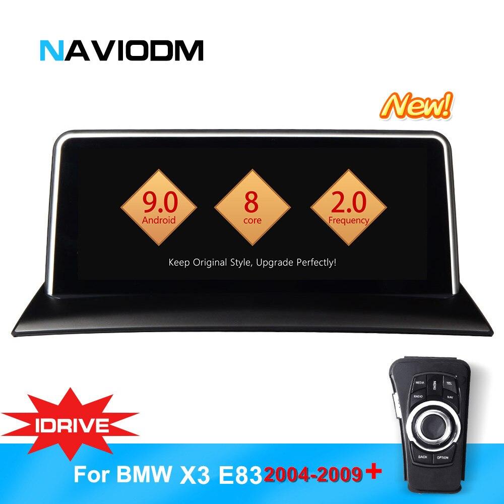 Naviodm android 9.0 8 núcleo jogador car multimedia car dvd player gps de carros de áudio Para BMW X3/E83 2004 -2009 iDrive aux bt rádio