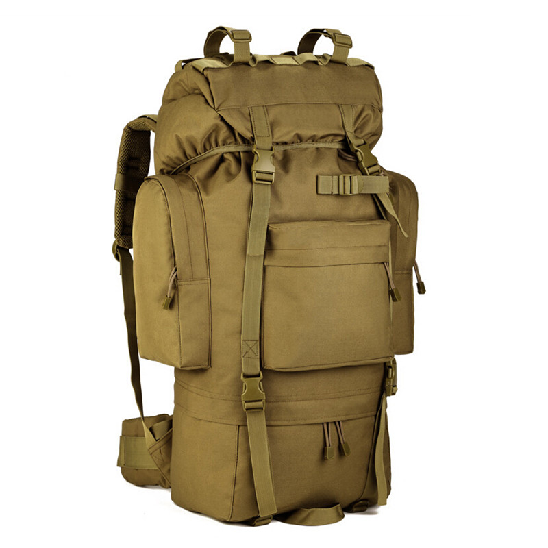 Men Military Backpack Molle Camouflage Travel Bags 65L Large Capacity Waterproof Nylon Bags Multi-function Laptop Backpack J56 2018 casual military army camouflage backpack unisex waterproof nylon laptop backpack for men male multi function school bagpack