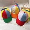 Adultos Y Niños Propeller Sombrero Remiendo Colorido Divertido Béisbol Sombreros Propeller Libélula De Bambú Sol Sombrero Casquette Snapback