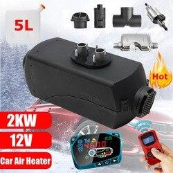 12 В 2 кВт автомобильные Дизели Воздушный стояночный обогреватель автомобильный обогреватель ЖК-дисплей пульт дистанционного управления мо...