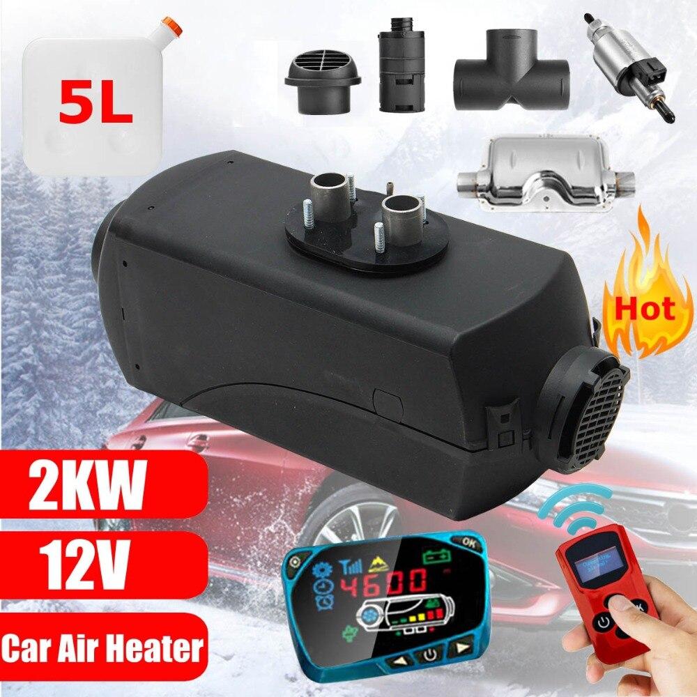 Radiateur de voiture 2KW 12 V Air Diesels Chauffe-chauffage de stationnement Avec télécommande écran lcd Pour RV, Camping-Car Remorque, Camions, Bateaux
