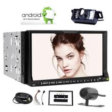 2 Din 7″Android 6.0 Car DVD Player Navigation Stereo Quad core Car AM FM RDS Radio Support WIFI 4G/3G BT+Front & Rearview Camera