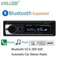 Автомобильный Радио автомобильный радиоприемник с Bluetooth автомобильный стерео радио FM Aux вход приемник SD USB JSD-520 12 В в-тире 1 din автомобиль MP3 му...