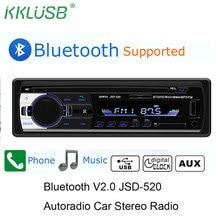 Автомобильный Радио автомобильный радиоприемник с Bluetooth автомобильный стерео радио FM Aux вход приемник SD USB JSD-520 12 В в-тире 1 din автомобиль MP3 мультимедийный плеер