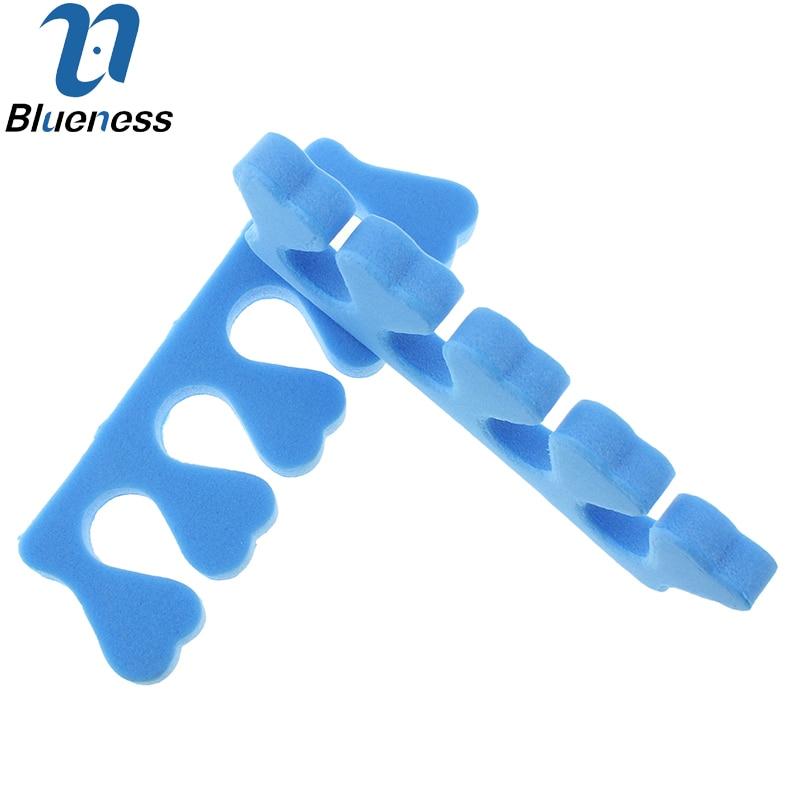 10Pcs Package Soft Sponge Foam Toe Separator Blue Pedicure Tool font b Feet b font font
