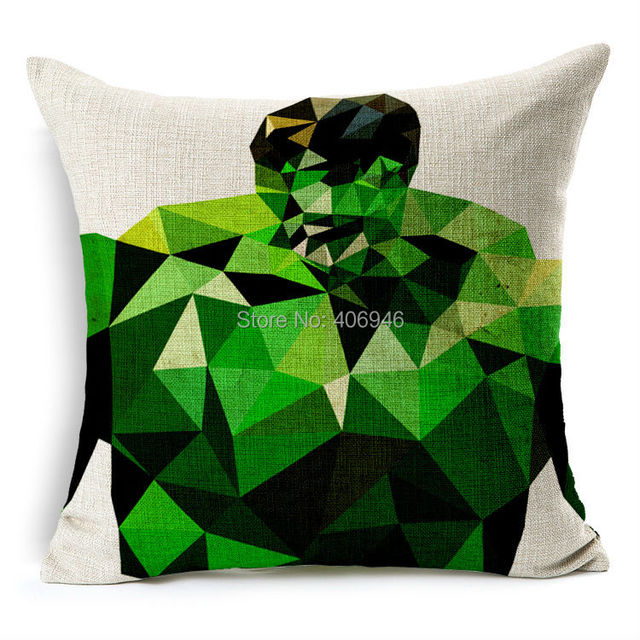 Superhero simplistic pillow case