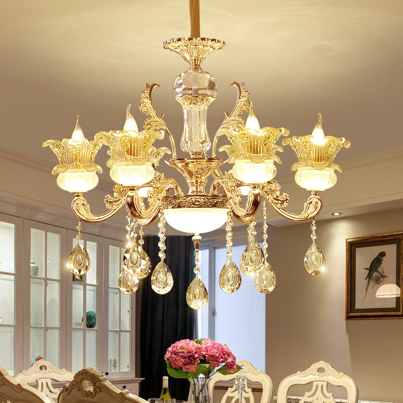 Modern Crystal Chandelier Living Room lustres de cristal Decoration Tiffany Pendants and Chandeliers Lighting black friday deals modern crystal chandelier hanging lighting birdcage chandeliers light for living room bedroom dining room restaurant decoration