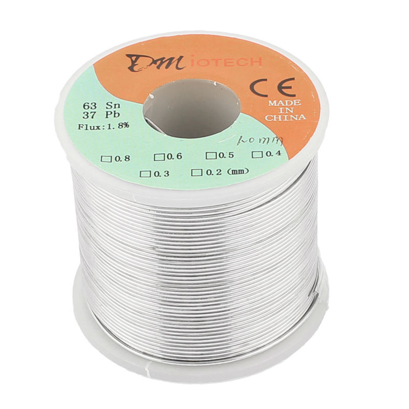 DMiotech Hot FLUX 1.8% 400g 1mm 63/37 Tin Lead Line Rosin Core Flux Solder Soldering Wire Roll 361F/183C Welding Iron Wire Reel 1mm 500g rosin core solder 60 40 tin lead 2 0% flux soldering welding iron wire