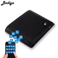 Anti lost Men Smart Wallet Men's Genuine Leather Short Wallet Intelligent Bluetooth Anti theft Purse Credit Card Holders