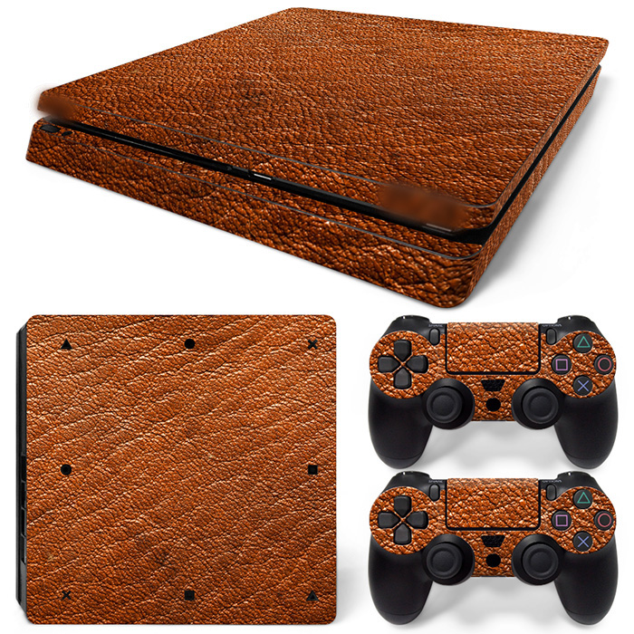 Free Drop Shipping  vinyl decal covers protective skins Decals for Playstation 4 Games - Stickers Cover for PS4 Slim -Leather