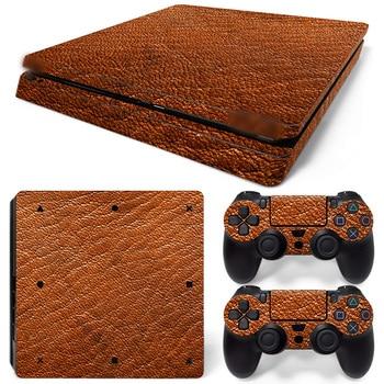 Livraison directe gratuite vinyle décalcomanie couvre peaux de protection décalcomanies pour Playstation 4 jeux-autocollants couverture pour PS4 Slim-cuir