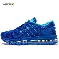 Onemix yeni varış eşsiz dil tasarım erkek nefes açık rahat erkek koşu için spor hava sneakers ayakkabı 1155