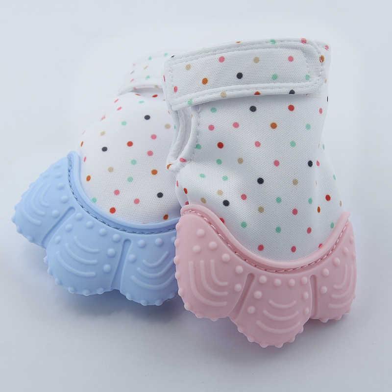 1 шт., силиконовый Прорезыватель для зубов, Детская соска, перчатка, Прорезыватель для зубов, жевательный Прорезыватель для новорожденных, прорезыватель с бусинами, пастельный, без бисфенола, 5 цветов
