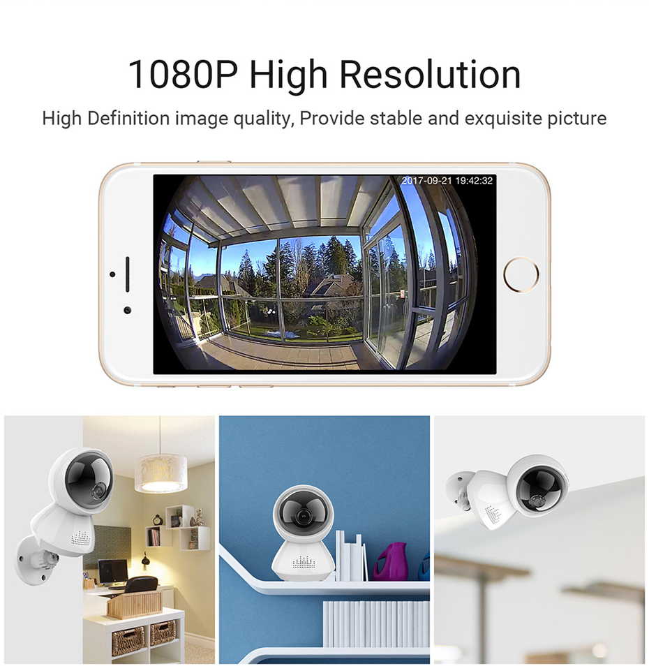 H.VIEW 1080P Panoramic Camera 180 CCTV Camera 720P IP Camera Wifi Camara IP Fisheye Video Surveillance Cameras (12)