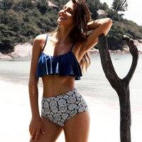 2017 High Waist Bikinis Women Swimwear Plus Size Swimuit Female Retro Beachewear Bikini Set Bathing