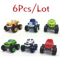 Alta calidad 6 unids/set Blaze juguetes ruso Crusher camión vehículos figura Blaze juguete regalos para los niños