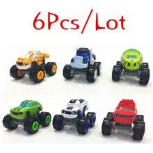 Высокое качество 6 шт./компл. Blaze автомобиль игрушки русский дробилка грузовик автомобили фигурка Blaze игрушка Подарки для детей