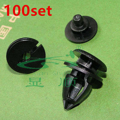 100x for Renault Clio Kangoo Trafic Interior Door Panel Trim Clips