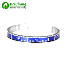 Titanium Steel Brazaletes Pulseras Vintage Plated Bangle Bracelet for Men Stainless Cuff Speedometer