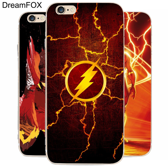 hot sale online 20f7f 134c1 US $1.38 |DREAM FOX K226 The Flash Superhero Transparent Hard Thin Case  Cover For Apple iPhone XR XS Max 8 X 7 6 6S Plus 5 5S SE 5C 4-in Fitted  Cases ...