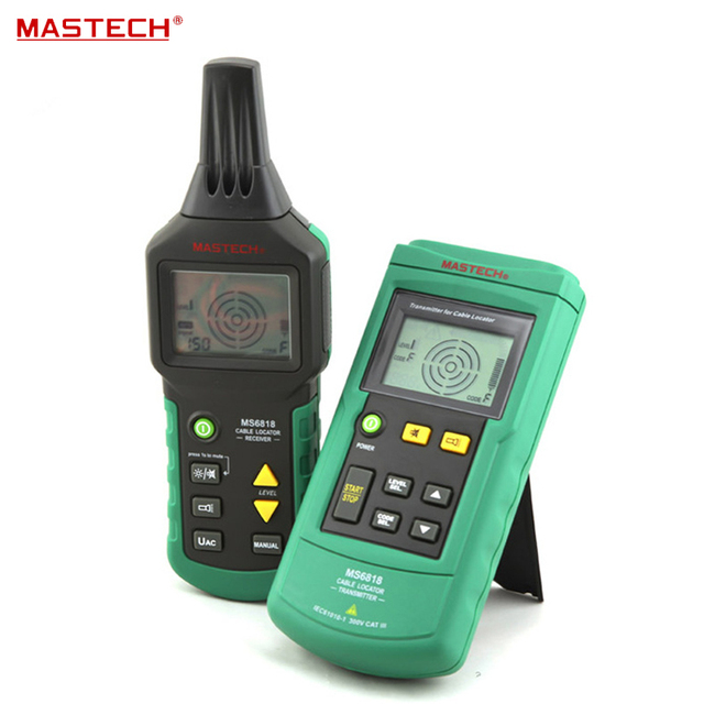 MS6818 Portable Digital Wire Cable Metal Pipe Locator Detector Tester Meter Tracker