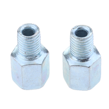 Motorcycle Rearview Mirror 10mm Reverse To Postive Thread  Screw Steel Metal