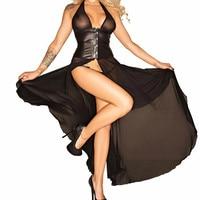 Новая сетчатая панк-рок девушка сексуальная клуб рок Для женщин ночной бар искусственная Кожаные модельные туфли пикантные черные сапоги ж...