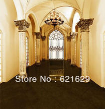 Indoor pillars 8'x8′ CP Computer-painted Scenic Photography Background Photo Studio Backdrop HY-CM-4194