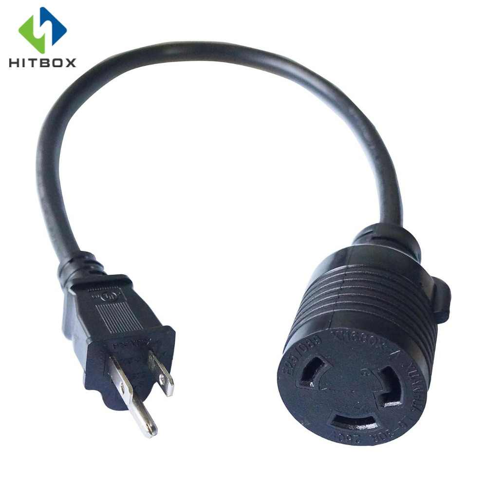 hight resolution of hitbox adapter cord 1 5 feet 14 awg power extension cord l6 30r cable connector