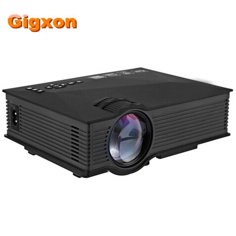 Gigxon-G46 WIFI Inalámbrico Portátil mini proyector Multimedia HD Video Home Cin