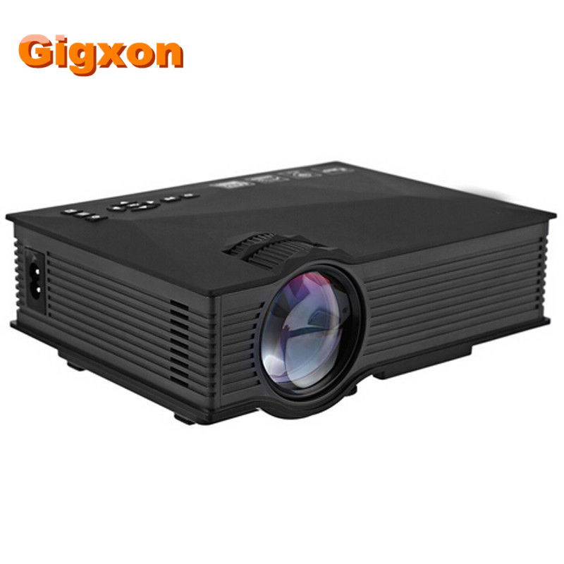 Gigxon - G46 Wireless WIFI Portable mini projector HD Multimedia Video Home Cinema LED Projector Support Miracast DLNA Airplay 2pc set stainless steel man shaving safety razor and badger beard shave brush