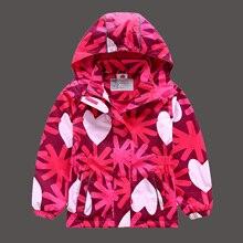 HSSCZL New Girls Jackets Warm Polar Fleece Jackets For Girls Winter Autumn Waterproof Windbreaker Kids Coat Children Outerwear
