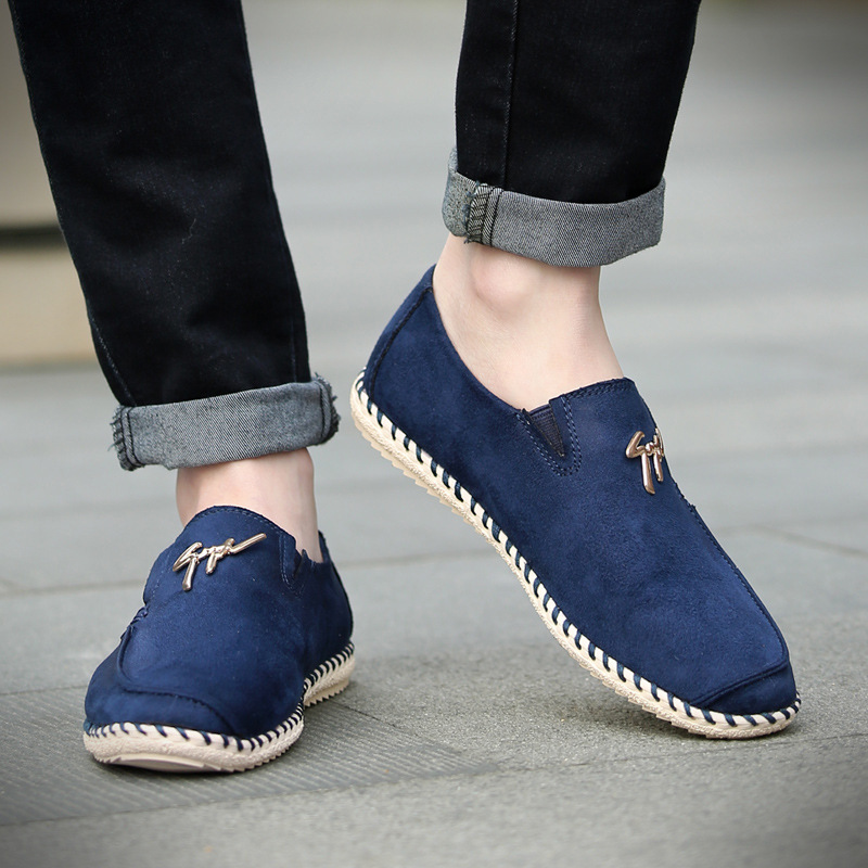 On Rushed New Summer Behalf Of A Spring 2016 Male Korean Casual Shoes Are Driving Slip-on Lightweight Breathable Soft Bottom the spring and summer of 2016 new men s leather shoes are comfortable size kevin slip on england shoes free shipping
