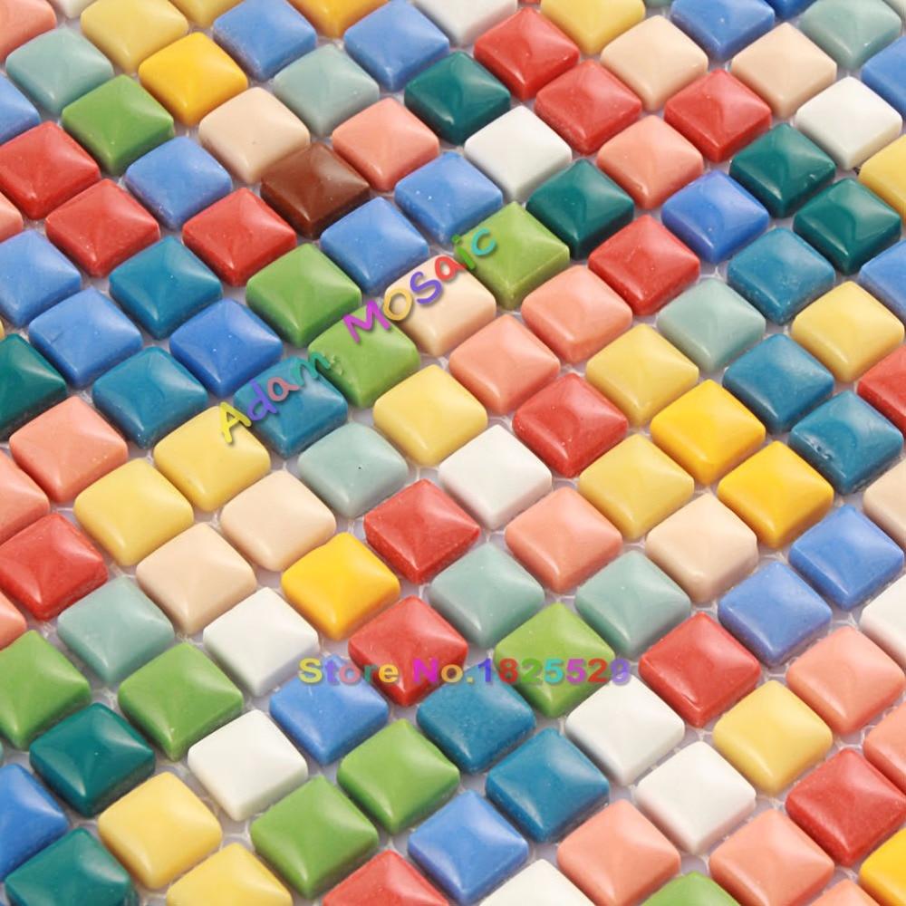 - Iridescent Mosaic Tiles Backsplash Kitchen Rainbow Color