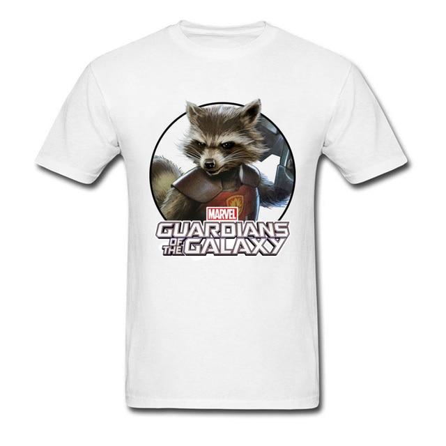 b60cc18e Hot Sale USA Marvel Theme Tshirt Rocket Raccoon Galaxy Men T Shirt Top  Quality Fashion Clothing Shirt Funny Ship Captain T-Shirt