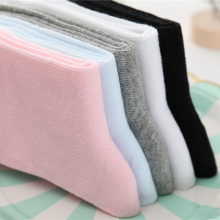 1 Pair Baby Girl Boy Socks Children Cotton White Black Gray Short Sock Toddler Boys Sports Soft 2-12Y Kids Spring Autumn