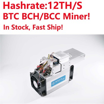 In Stock! BTC/BCH Miner! Whatsminer M3 12th/s Bitcoin Miner better than antminer S7 with P5 PSU fast deliver free shipping