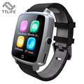 TTLIFE Marca Mensaje Conectividad Bluetooth Reloj Inteligente Reloj Con Ranura Para Tarjeta Sim Push Android Smartwatch Teléfono Mejor Que GT08